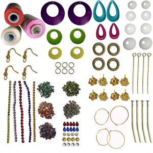 Jewellery making kit and accessories with 3 silk thread (red,Sandal,Light Pink)