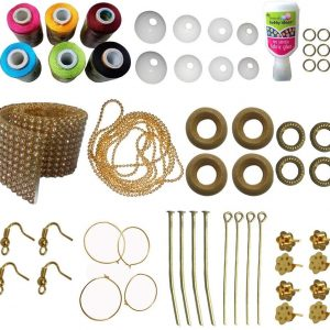 Jewellery-Making-kit with Yellow-Parrot-Green-Maroon-Black-SkyBlue-Pink-Silk Thread for your lovable Jewell