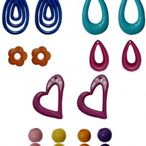 Jewellery Making kit 13 Different Earring Bases and 30 Chain/Necklace Making Beads