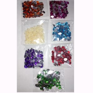 Multi Color oval shape Jewelry making stone with pack of 7