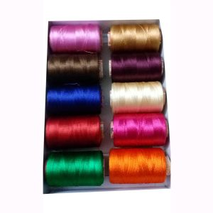 silk thread box with pack of 10 thread and jhumka earring base and color base