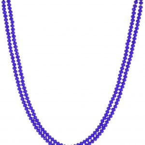Dark Blue Crystal Chain with Silk Thread Earring