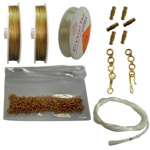 Jewellery making kit, gear lock and wire, white wire, bracelet elastic wire, chain hook